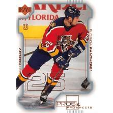 Kozlov Viktor - 2000-01 Pros and Prospects No.38