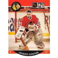 Cloutier Jacques - 1990-91 Pro Set No.428