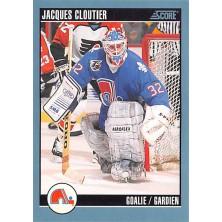 Cloutier Jacques - 1992-93 Score Canadian No.378