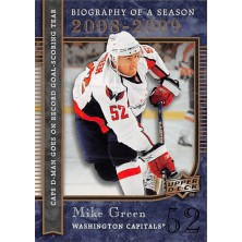 Green Mike - 2008-09 Upper Deck Biography of a Season No.BS26