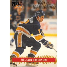 Emerson Nelson - 1992-93 Pro Set Team Leaders No.9
