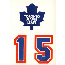 Toronto Maple Leafs - 1986-87 Topps Sticker Inserts No.13