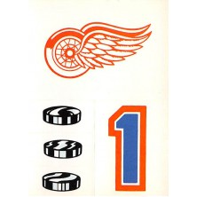 Detroit Red Wings - 1986-87 Topps Sticker Inserts No.15