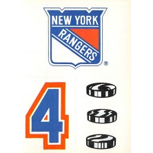 New York Rangers - 1986-87 Topps Sticker Inserts No.17