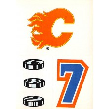 Calgary Flames - 1986-87 Topps Sticker Inserts No.18