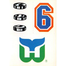 Hartford Whalers - 1986-87 Topps Sticker Inserts No.25