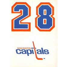 Washington Capitals - 1986-87 Topps Sticker Inserts No.30B