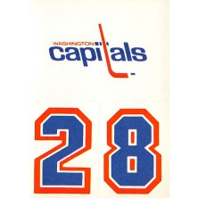 Washington Capitals - 1986-87 Topps Sticker Inserts No.30A