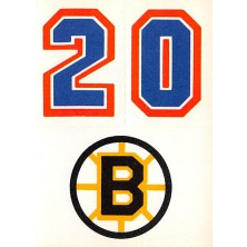 Boston Bruins - 1986-87 Topps Sticker Inserts No.31B