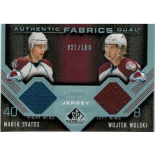 Svatoš Marek, Wolski Wojtek - 2007-08 SP Game Used Authentic Fabrics Duals No.AF2-SW