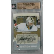 Lehtonen Kari - 2012-13 ITG Ultimate Memorabilia Goalie Autographs No.10