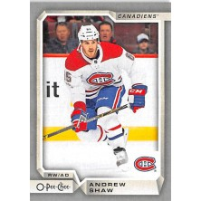 Shaw Andrew - 2018-19 O-Pee-Chee Silver No.303 A1