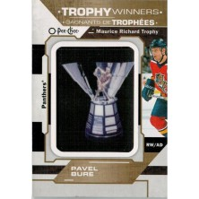 Bure Pavel - 2018-19 O-Pee-Chee Manufactured Trophy Winners Patches No.P-30 A1
