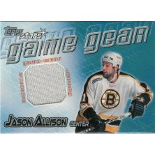 Allison Jason - 2000-01 Topps Stars Game Gear No.GG-JA
