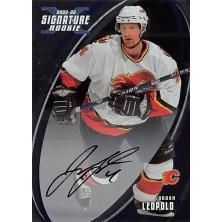 Leopold Jordan - 2002-03 BAP Signature Series Autographs No.195
