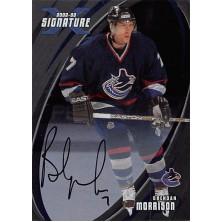 Morrison Brendan - 2002-03 BAP Signature Series Autographs No.56