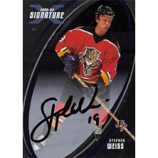 Weiss Stephen - 2002-03 BAP Signature Series Autographs No.156