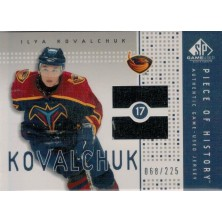 Kovalchuk Ilya - 2002-03 SP Game Used Piece of History No.PH-KK