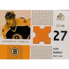 Murray Glen - 2002-03 SP Game Used Piece of History Gold No.AF-GM