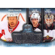 Franzen Johan, Henrique Adam, Kuemper Darcy - 2014-15 MVP NHL Three Stars Player of the Week No.3SW-03.03.14