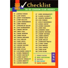 Checklist 91-180 - 1994-95 Stadium Club No.2
