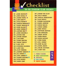 Checklist 181-270 - 1994-95 Stadium Club No.3