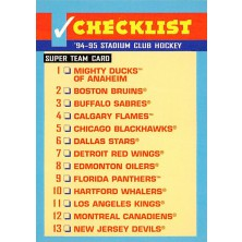 Checklist Super Team Card - 1994-95 Stadium Club No.NNO