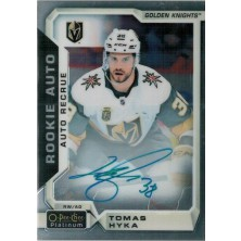 Hyka Tomáš - 2018-19 O-Pee-Chee Platinum Rookie Autographs No.R-TH
