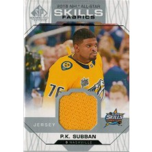 Subban P.K. - 2018-19 SP Game Used 18 All Star Skills Fabrics No.AS-PS