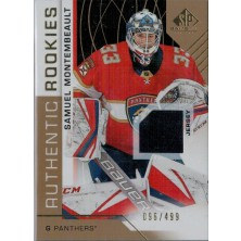 Montembeault Samuel - 2018-19 SP Game Used Gold No.144