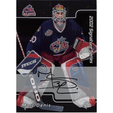 Denis Marc - 2001-02 BAP Signature Series Autographs No.35