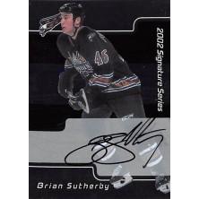 Sutherby Brian - 2001-02 BAP Signature Series Autographs No.223