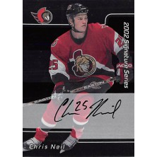 Neil Chris - 2001-02 BAP Signature Series Autographs No.219
