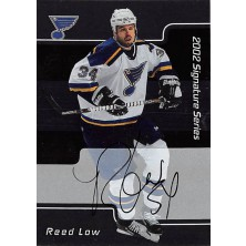 Low Reed - 2001-02 BAP Signature Series Autographs No.145