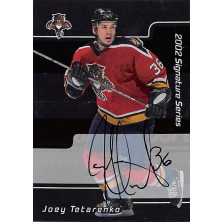Tetarenko Joey - 2001-02 BAP Signature Series Autographs No.133