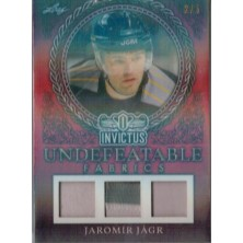 Jágr Jaromír - 2017-18 Leaf Invictus Undefeatable Fabric Prime Red No.UFP-11