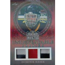 Hašek Dominik - 2017-18 Leaf Invictus Undefeatable Fabric Prime Red No.UFP-07