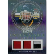 Hašek Dominik - 2017-18 Leaf Invictus Undefeatable Fabric Prime Purple No.UFP-07