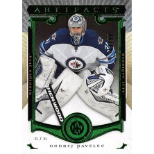 Pavelec Ondřej - 2015-16 Artifacts Emerald  No.14