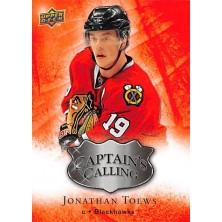 Toews Jonathan - 2009-10 Upper Deck Captains Calling No.CC2