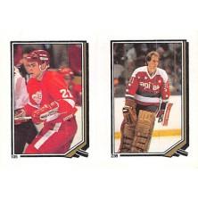 Oates Adam, Mason Bob - 1987-88 O-Pee-Chee Stickers No.105