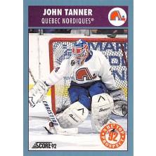 Tanner John - 1992-93 Score Canadian No.452