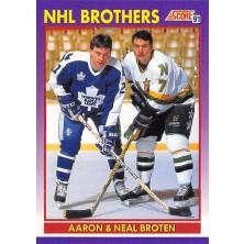 Broten Aaron, Broten Neal - 1991-92 Score American No.307