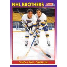 Cavallini Gino, Cavallini Paul - 1991-92 Score American No.308