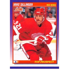 Sillinger Mike - 1991-92 Score American No.327