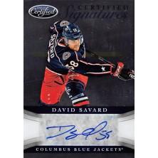 Savard David - 2012-13 Certified Signatures No.CS-DSA
