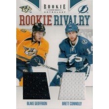 Geoffrion Blake, Connolly Brett - 2011-12 Rookie Anthology Rookie Rivalry Dual Jerseys No.59