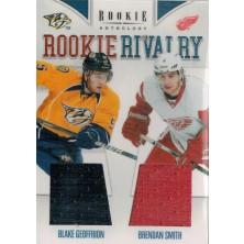 Geoffrion Blake, Smith Brendan - 2011-12 Rookie Anthology Rookie Rivalry Dual Jerseys No.3