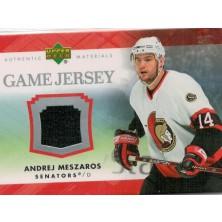 Meszaros Andrej - 2007-08 Upper Deck Game Jerseys - black No.J-ME