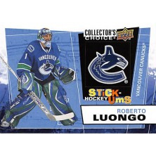 Luongo Roberto - 2008-09 Collectors Choice Stick-Ums No.UMS27